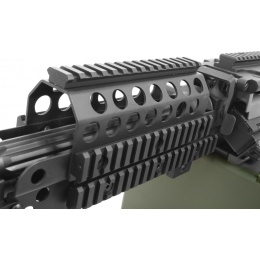 A&K Full Metal MK46 SAW Airsoft Machine Gun AEG - BLACK
