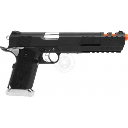 WG Airsoft Sport 103 XL CO2 NBB 1911 Pistol w/ Compensator - BLACK