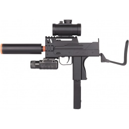 DE M11 CQB Compact Airsoft Submachine Gun w/ Flashlight and Scope