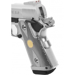 WE Tech Full Metal 3.8 Baby Hi-Capa Gas Blowback Pistol - SILVER