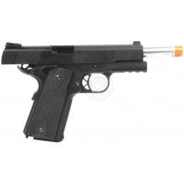350 FPS WE 5.1 Combat Warrior M1911 Metal Gas Blowback Airsoft Pistol