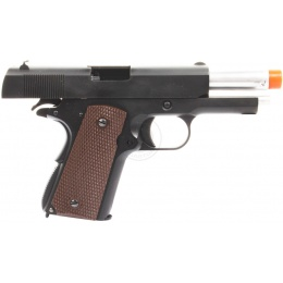 350 FPS WE Full Metal M1911 Commander WWII Gas Blowback Airsoft Pistol