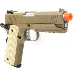 350 FPS WE Tech Desert Warrior 4.3 M1911 Compact Gas Blowback Pistol