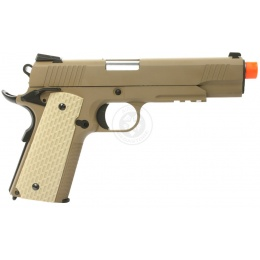 350 FPS WE Desert Warrior 5.1 M1911 Metal Gas Blowback Airsoft Pistol