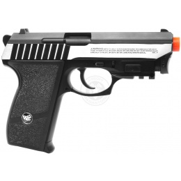 WG Compact Panther 801 Airsoft CO2 Blowback Airsoft Pistol - SILVER