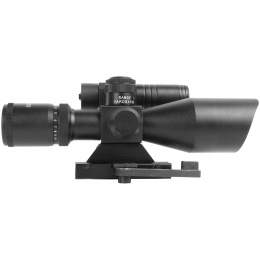 AIM Sports 2.5-10x40 QRM Dual Red & Green Illuminated Scope w/ Laser