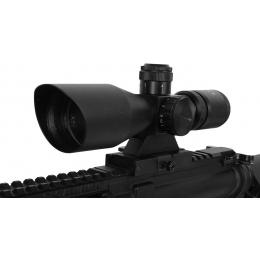 AIM Sports 2.5-10x40 P4 Sniper Rifle Red & Green Illuminated Scope