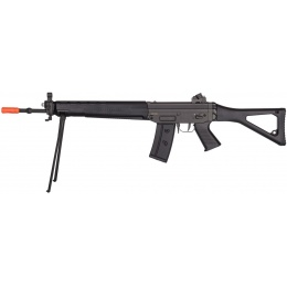 JG SIG 550 Full Metal Gearbox Airsoft AEG Rifle w/ Bipod - BLACK
