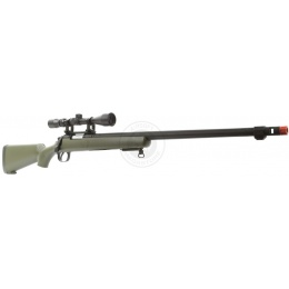 WellFire VSR-10 Spring Airsoft Sniper Rifle w/ Scope - OD GREEN