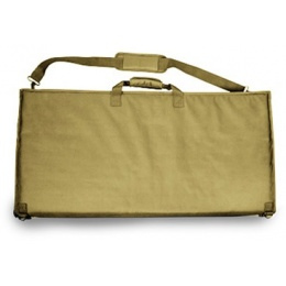 VISM Airsoft Tactical Padded PVC Shooting Mat w/ MOLLE Panel - TAN