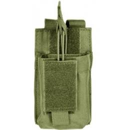 VISM MOLLE M4/M16 Single Rifle Mag Pouch - OD