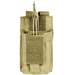 VISM MOLLE M4/M16 Single Rifle Mag Pouch - TAN