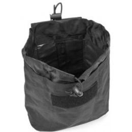 VISM MOLLE Tactical Folding Dump Pouch - BLACK