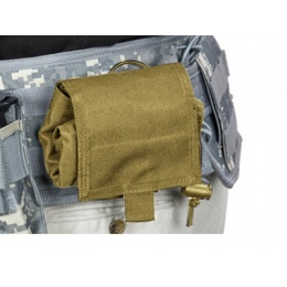 VISM MOLLE Tactical Folding Dump Pouch - TAN