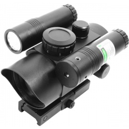 VISM Airsoft 7-Intensity Red Dot Scope w/ Green Laser Flashlight Combo