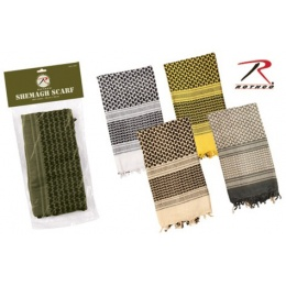Rothco Tactical Multi-Purpose Lightweight Shemagh Scarf - BLACK/ WHITE