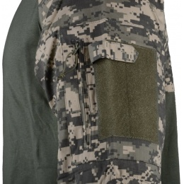 Rothco ACU Digital Camouflage Combat Shirt w/ Elbow Pads