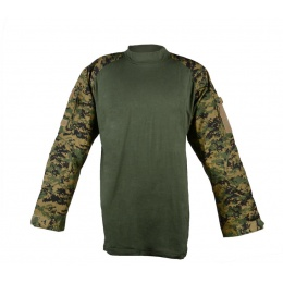 Rothco Woodland Digital Camouflage Combat Shirt - w/ Elbow Pads