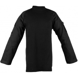 Rothco Tactical Black Combat Shirt - w/ Exterior Pockets & Elbow Pads