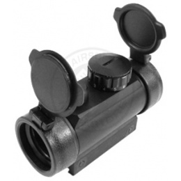 AIM Sports 1x30 Red Dot Scope w/ 7-Intensity Levels & Flip-Up Covers