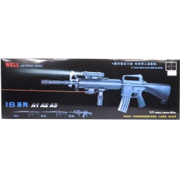 300 FPS WellFire M16A3 Spring Airsoft Rifle - w/ Tactical Accessories
