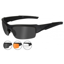 Wiley X Valor Changeable Ballistic Glasses - 3X Lens Package - BLACK
