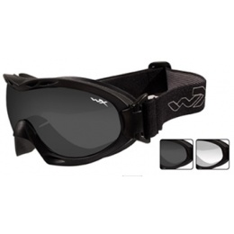 Wiley X Nerve Ballistic Goggles w/ 2X Lenses & Protective Case