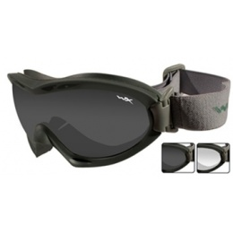 Wiley X Nerve Tactical Ballistic Goggles w/ 2 x Lenses - GREEN