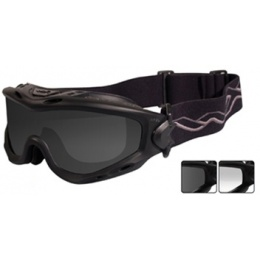 Wiley X Spear Tactical Ballistic Goggles Eye Protection - BLACK