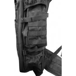 Lancer Tactical 600D 36-Inch Rifle Case Backpack - BLACK