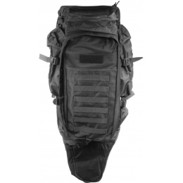 Lancer Tactical 600D 36-Inch Rifle Case Backpack - BLACK