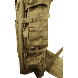 Lancer Tactical 600D 36-Inch Airsoft Rifle Case Backpack - TAN