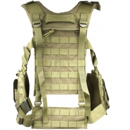 AMA Modular Airsoft Chest Rig w/ 3x Magazine Pouches - OD
