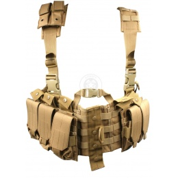 AMA MOLLE Airsoft Chest Rig w/ Magazine Pouches - TAN