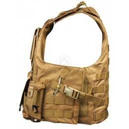 AMA MOLLE Modular Plate Carrier w/ 6 Pouches - TAN