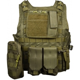AMA MOLLE StrikeForce 1000D Modular Plate Carrier - OLIVE DRAB
