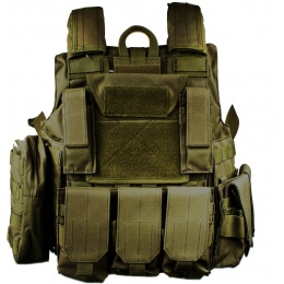 AMA 1000D MOLLE Rapid Response Maritime Plate Carrier - OLIVE DRAB