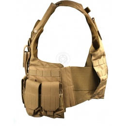 Lancer Tactical MOLLE Rapid Response Maritime Plate Carrier - TAN