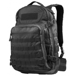 Condor Outdoor MOLLE Venture Backpack w/ Padded Laptop Sleeve - BLACK