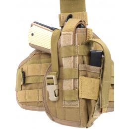 Flyye Industries Tactical Drop Leg MOLLE Pistol Holster - Coyote Brown