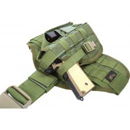 Flyye Industries Tactical Drop Leg MOLLE Pistol Holster - OD
