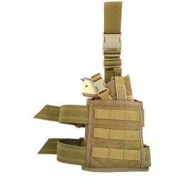 Flyye Industries Spec-Ops MOLLE Drop Leg Pistol Holster - Coyote Brown