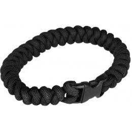 Flyye Industries Snake Weave Paracord Bracelet w/ Buckle - BLACK