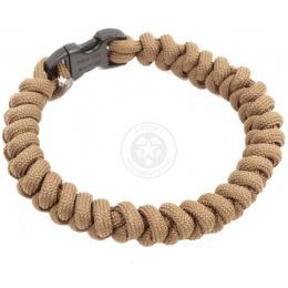 Flyye Industries Mil-Spec Paracord Snake Weave Bracelet - COYOTE BROWN