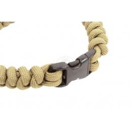 Flyye Industries Snake Weave Paracord Bracelet w/ Buckle - KHAKI