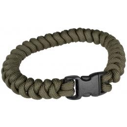 Flyye Industries Mil-Spec Paracord Snake Weave Bracelet - RANGER GREEN