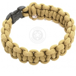 Flyye Industries Mil-Spec Paracord Survival Bracelet - KHAKI