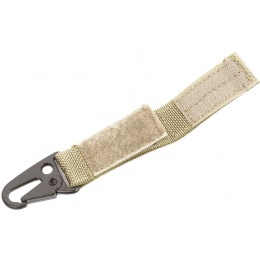 Flyye Industries Single Point Key Chain w/ Hook & Loop Strap - KHAKI