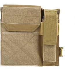 Flyye Industries MOLLE Admin Panel w/ Pistol Mag Pouch - Coyote Brown