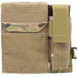 Flyye Industries MOLLE Admin Panel w/ Pistol Mag Pouch - MULTICAM